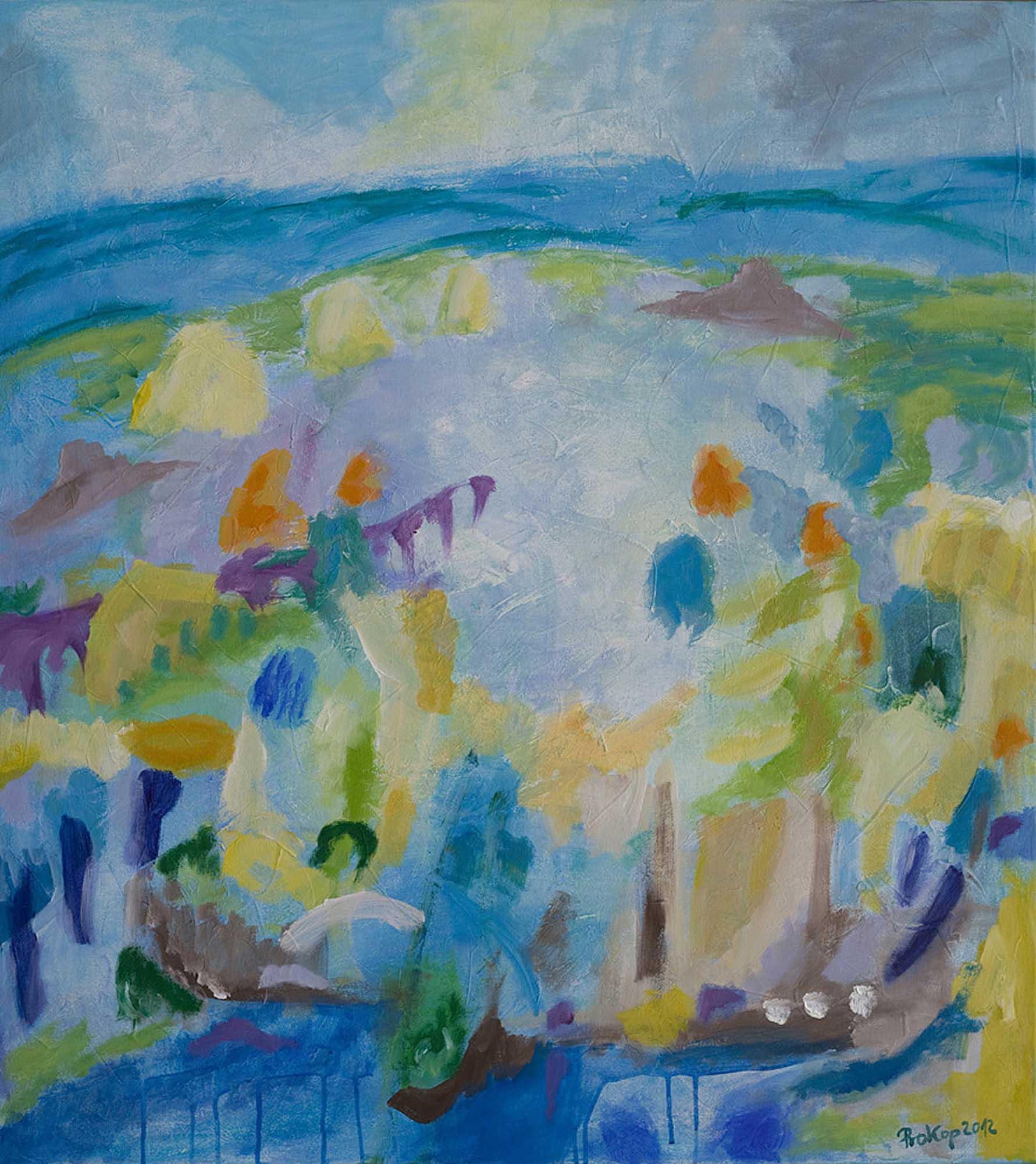 Blaue Landschaft 2012 90x100