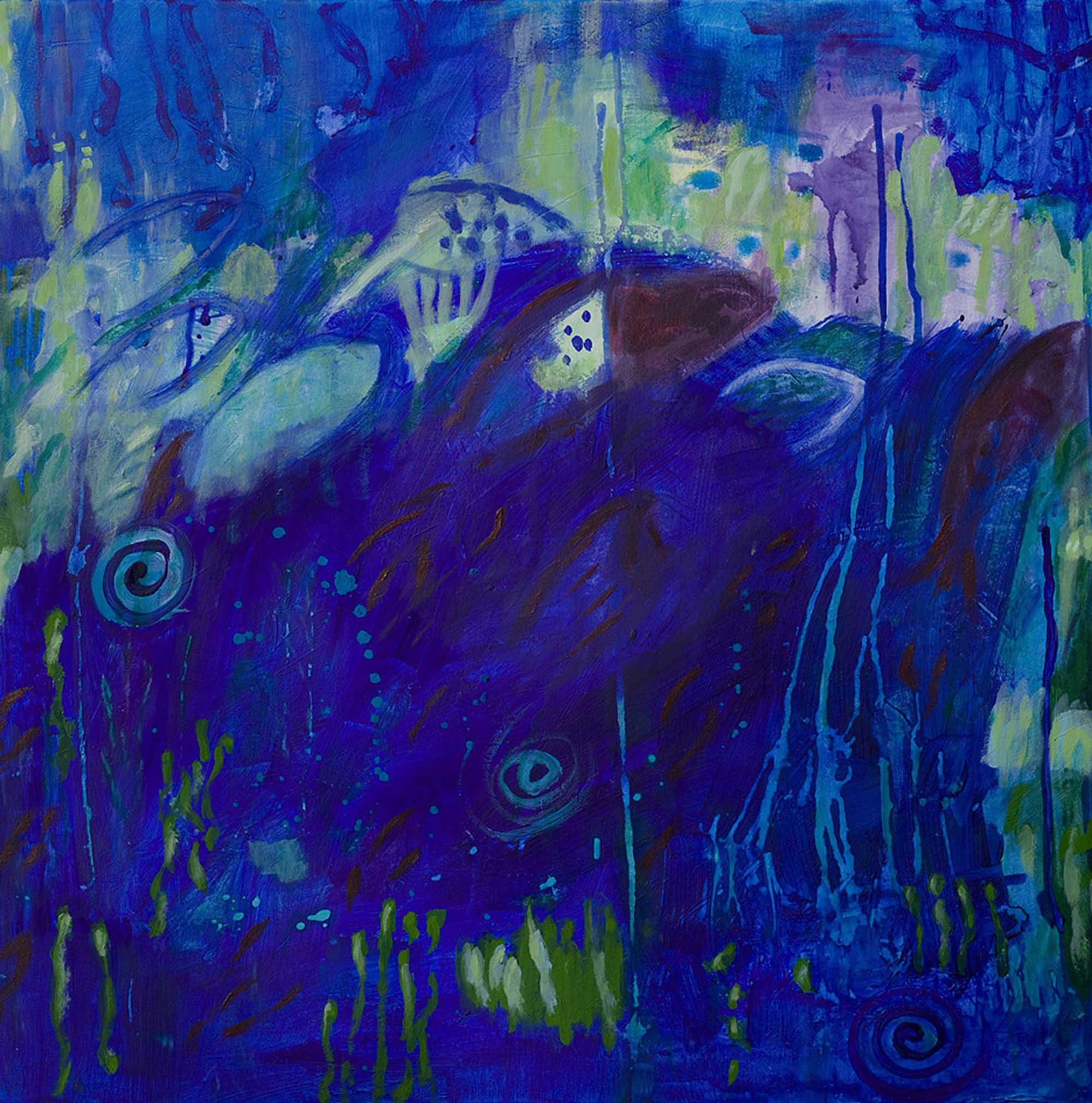 Fische I 2012 90x90